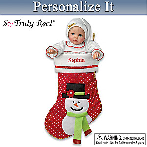 """My Christmas Baby"" Doll With Personalized Stocking"