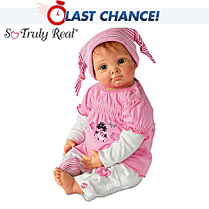 "Elly Knoops ""Julia And The Sock Goblin"" Lifelike Baby Doll"