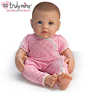 So Truly Mine Play Doll: Brown Hair, Blue Eyes