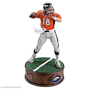 Denver Broncos Peyton Manning Sculpture With Fabric Uniform