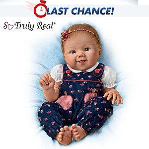 "Sandy Faber ""Apple Dumpling"" Poseable Baby Doll"