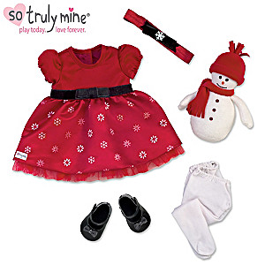 Holiday Dress Accessory Set For The So Truly Mine Baby Doll