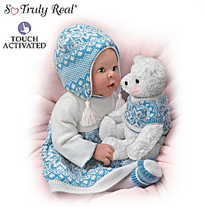 """Sherry Rawn """"Eskimo Kisses"""" Doll With Touch-Activated Bear"""