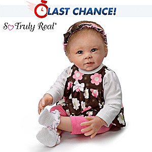 "Linda Murray ""Sweet Brown-Eyed Girl"" Poseable Baby Doll"