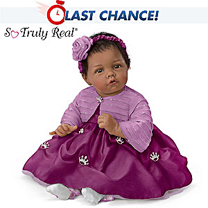 "Elly Knoops ""Pretty As A Princess"" Poseable Baby Girl Doll"