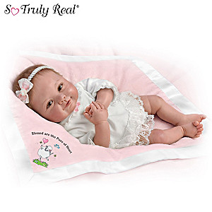 """Ping Lau """"Blessed Are The Pure Of Heart"""" Lifelike Baby Doll"""