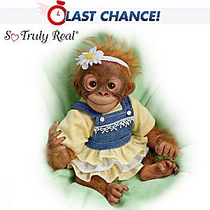 "Amy Ferreira ""Darling Daisy"" Lifelike Poseable Monkey Doll"