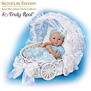 """Ella, My Little Princess"" Baby Doll With Carriage Bassinet"