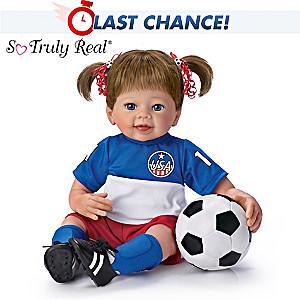 Linda Murray Dream Big Lifelike Poseable Soccer Player Doll