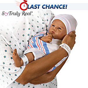 "Sandy Faber ""Love At First Sight"" Lifelike Newborn Baby Doll"