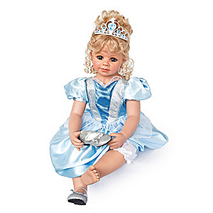 "Monika Peter ""Cinderella"" Lifelike Poseable Child Doll"