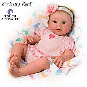 "Sherry Rawn ""Ella"" Realistic Touch-Activated Baby Doll"