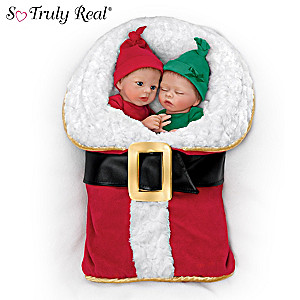 "Donna Lee ""Wrapped Up In Christmas"" Twin Baby Doll Set"