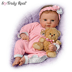 "Violet Parker ""Un-bear-ably Cute!"" Baby Doll With Plush Bear"