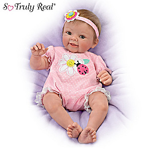 "Sherry Rawn ""Smile Awhile, Skyler"" Realistic Baby Girl Doll"