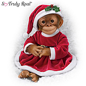 "Amy Ferreria ""Holly The Holiday"" Monkey Doll"