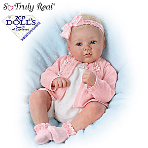 "Marissa May ""Perfect In Pink Annika"" Lifelike Baby Girl Doll"