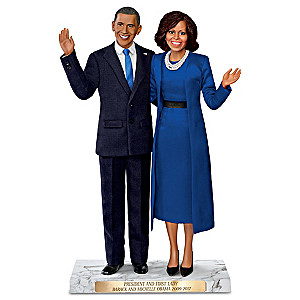 Historic Farewell President And First Lady Portrait Doll Set