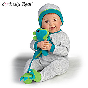"Linda Murray ""Ryan And Rex"" Baby Doll With Plush Dinosaur"