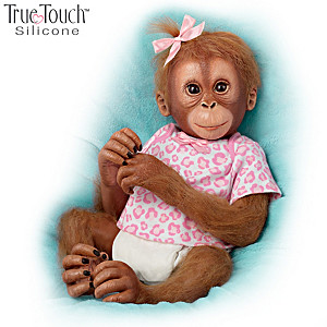 "Ina Volprich ""Baby Mina"" Lifelike Silicone Monkey Doll"