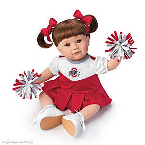 Officially Licensed Buckeyes Cheerleader Girl Doll