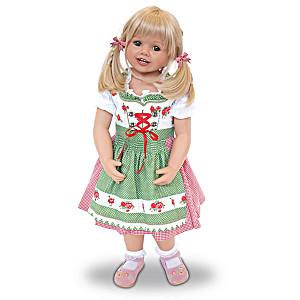 "Monika Peter-Leicht ""Louisa"" Child Doll In Bavarian Costume"