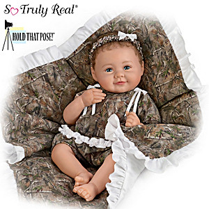 "P. Lau ""Camo Cutie"" Fully Poseable Lifelike Baby Doll"