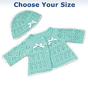 Sweater And Hat Baby Doll Accessory Set: Choose Your Size