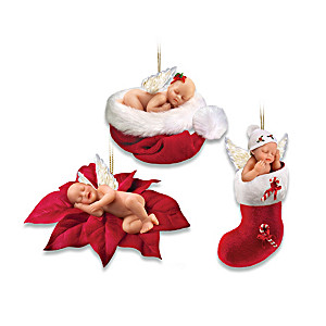 """Santa's Little Baby Angels"" Ornament Collection"