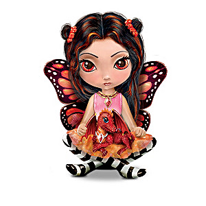 "Jasmine Becket-Griffith 3"" Matchbox Dolls With Dragonlings"