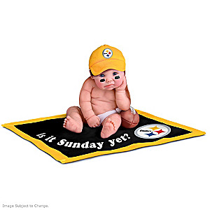 NFL Licensed Pittsburgh Steelers Baby Doll Collection