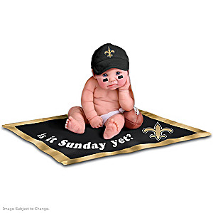 NFL Licensed New Orleans Saints Baby Doll Collection