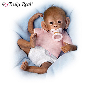 Linda Murray Poseable Lifelike Baby Monkey Doll Collection