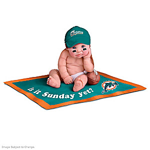 NFL Licensed Miami Dolphins #1 Fan Baby Doll Collection
