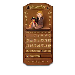 Perpetual Calendar Featuring 12 Sherry Rawn Baby Dolls