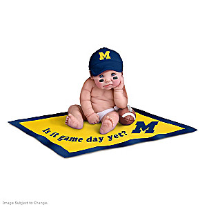 """Michigan Wolverines"" #1 Fan Commemorative Doll Collection"