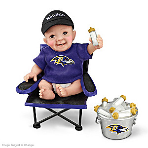 """Baltimore Ravens """"Tailgatin' Tots"""" Fan Doll Collection"""