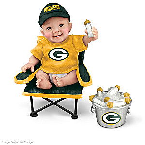 "Green Bay Packers ""Tailgatin' Tots"" Fan Doll Collection"