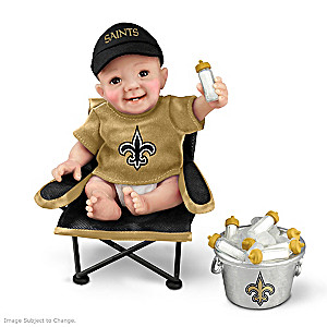 "New Orleans Saints ""Tailgatin' Tots"" Fan Doll Collection"