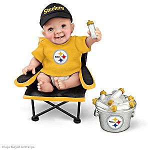 "Pittsburgh Steelers ""Tailgatin' Tots"" Fan Doll Collection"