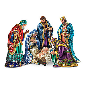 """""""The Jeweled Nativity"""" Peter Carl Faberge-Inspired Figurines"""